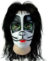 KISS Catman Latex Full Mask With Hair (Adult)