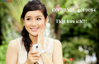 Đăng ký 3G Mobifone gói BMIU nhận 3,95 GB mỗi tháng