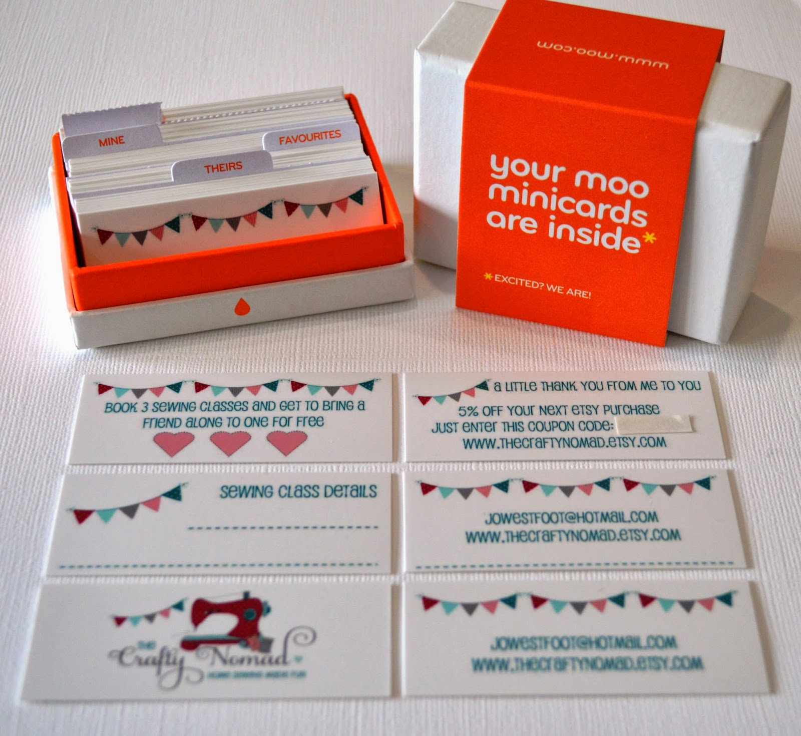 The Crafty Nomad: Branding! plus 10% discount Moo Cards code!