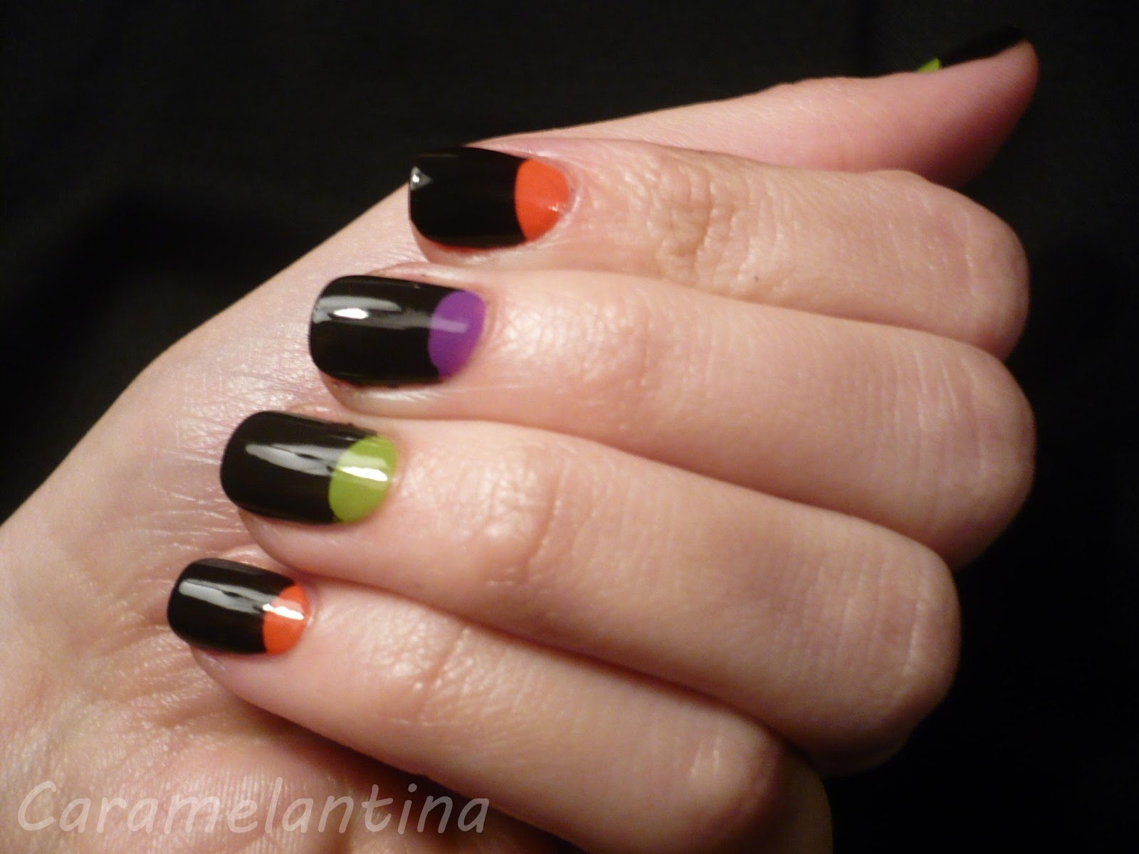 Colorama Black, Maybelline Forever Strong PRO Orange Couture, Mabby Apple, Extreme by Farmacity Giovanna swatch review