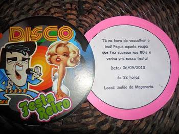 Festa ANOS 80 - 06/09/2013
