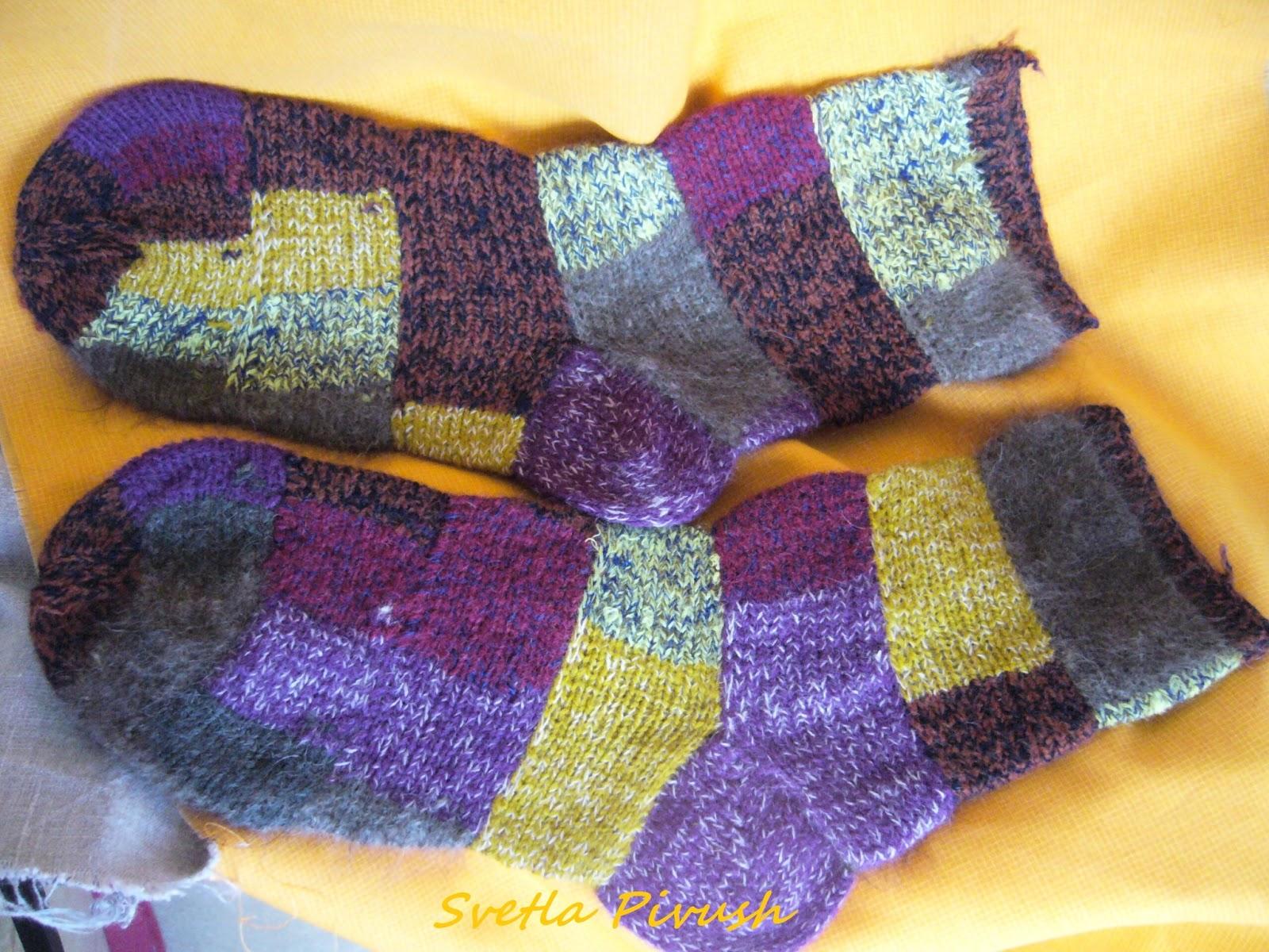 Вязание носков пряжа 8