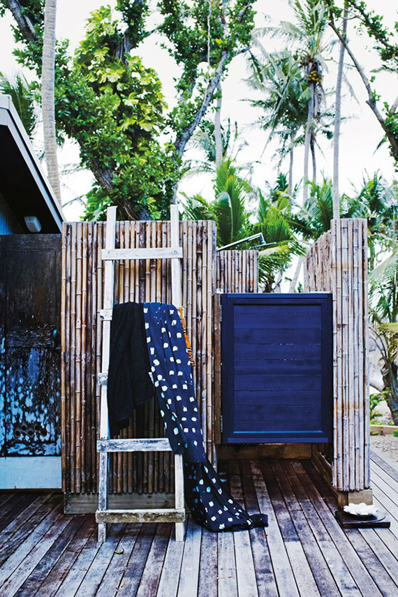 Outdoor shower | Image via Condé Nast Traveller
