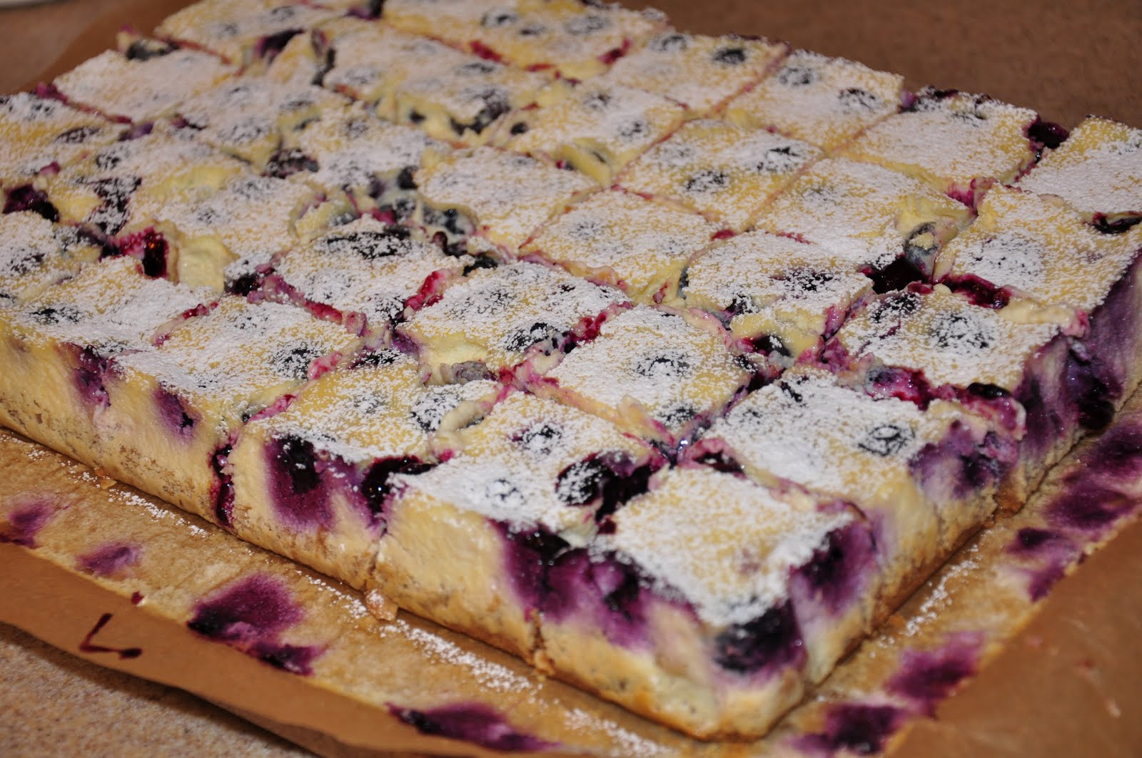 The Changeable Table Lemon Blueberry Cheesecake Bars