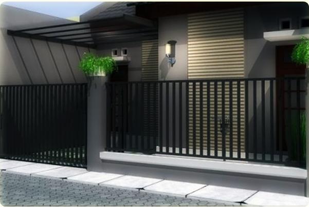 Desain dan Bentuk Pagar Rumah Minimalis