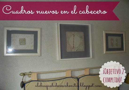 Objetivo 2: Nuevos cuadros en mi dormitorio