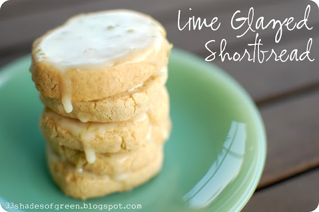 33 Shades of Green: Tasty Tuesdays: Lime Glazed Shortbread
