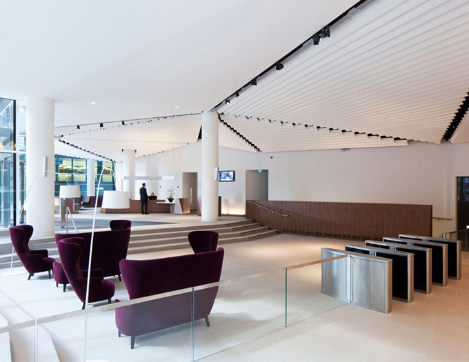 World of architecture amazing office solutions macquarie for Cool furniture london