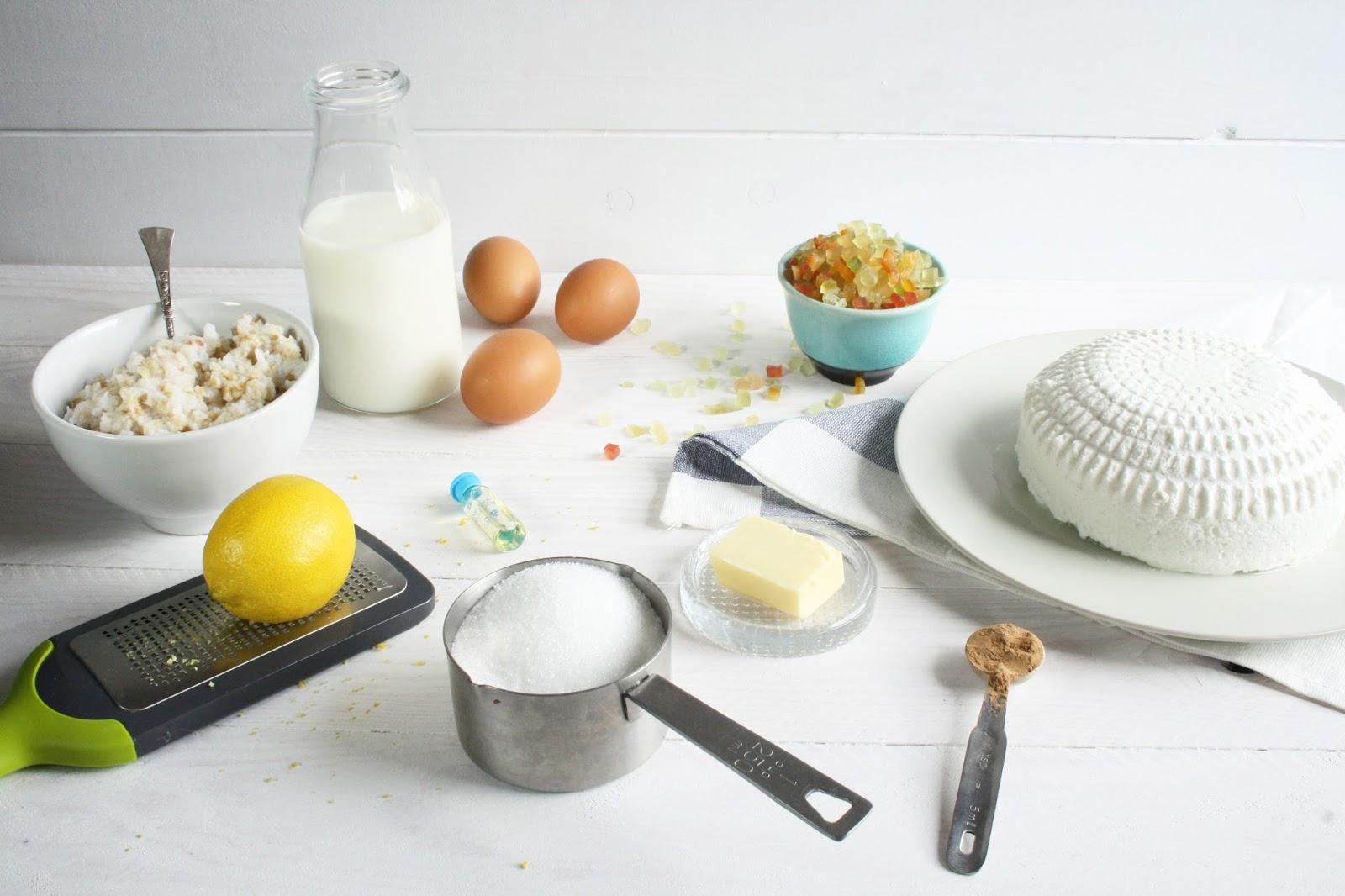 Ingredientes para la Pastiera