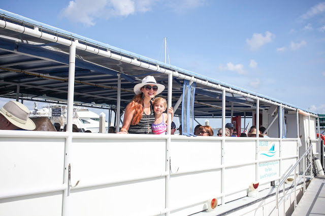 Travel writer and daughter on Amelia Island River Cruise
