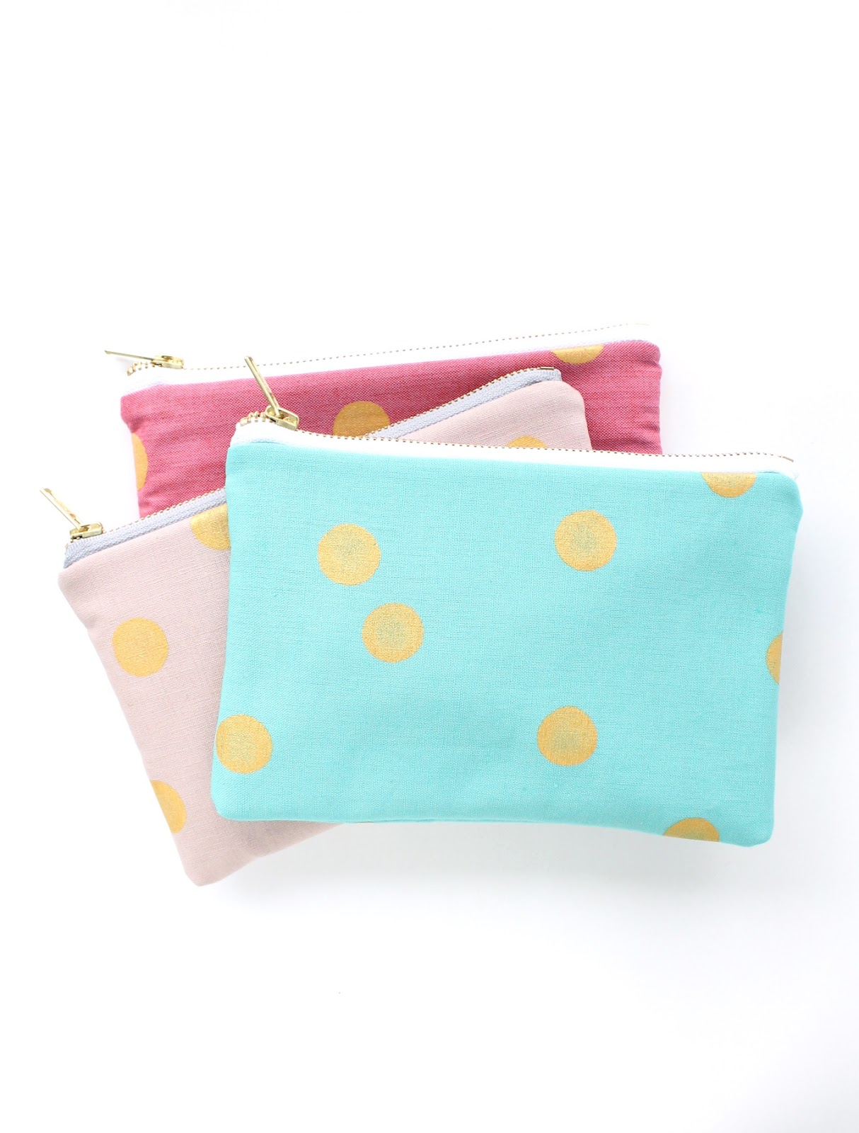 gold dot clutches by allisa jacobs