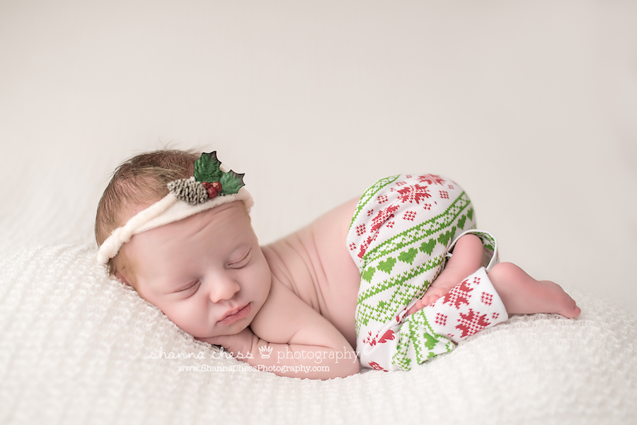eugene springfield oregon newborn photographer christmas