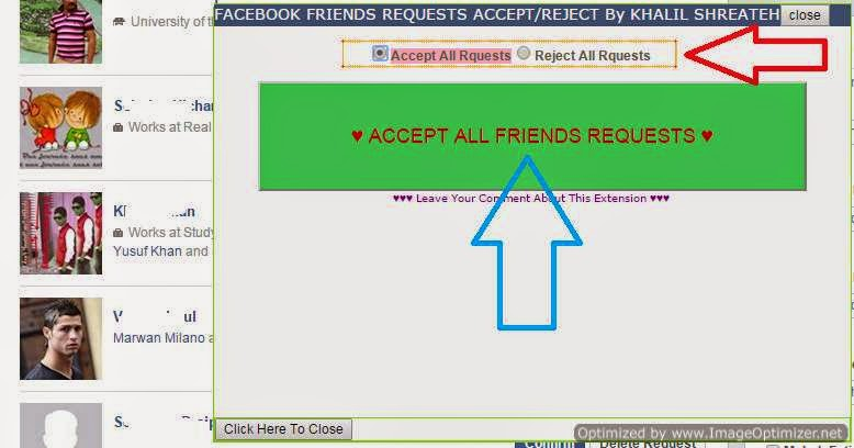 pending relationship request facebook accept all friend