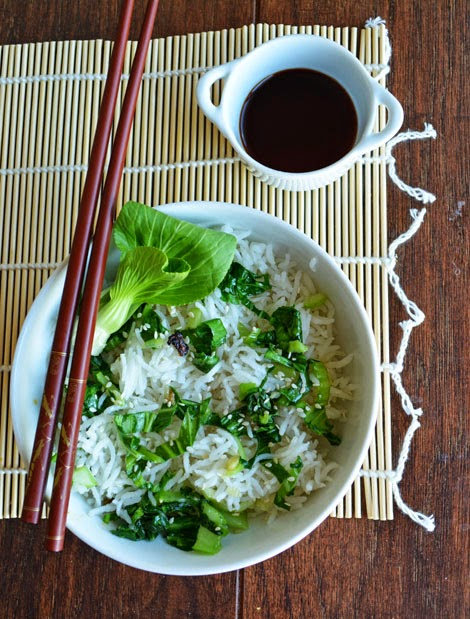 Bok Choy Fried Rice with Basmati Rice