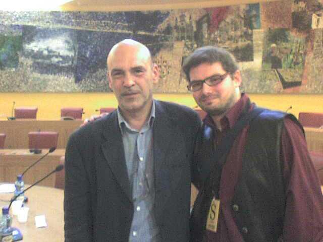 Luca Bagatin con Giordano Bruno Guerri (settembre 2009)