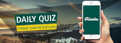 Daily Quiz Bersama Ricola Berhadiah IPhone 6 dan Voucher Pulsa