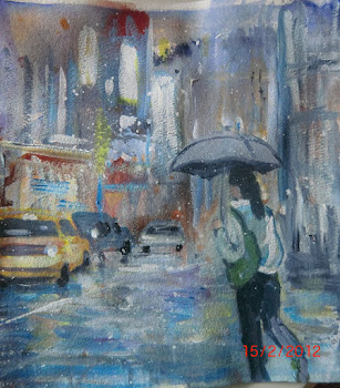 Akvarell/akrylbilde