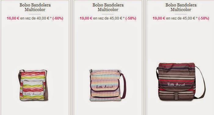 Ejemplos de bandoleras de la marca Little Marcel desde 16 €