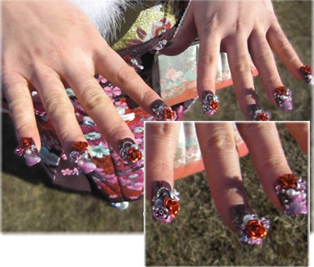 flower nail designs. Flower Nail Art Design