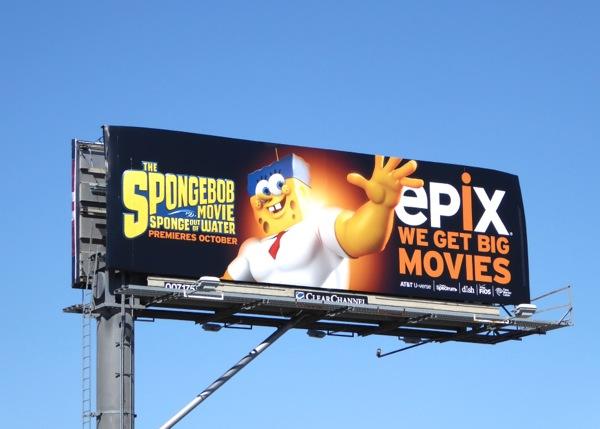 Spongebob movie Epix billboard