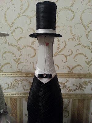 Украшение бутылок шампанского