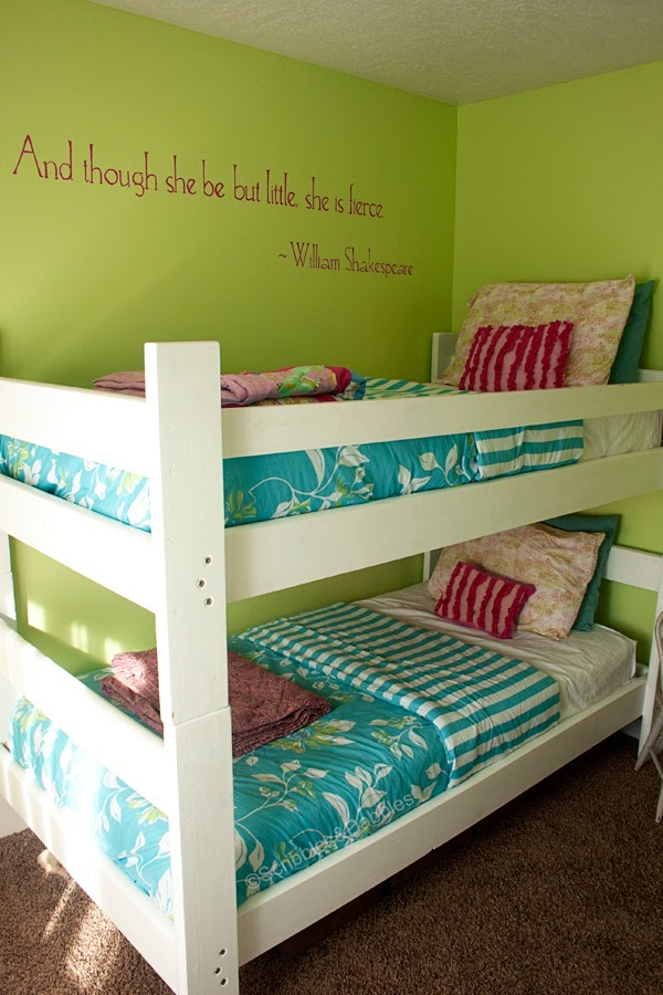 Scribbles&Dabbles: Bright Girls' Room Makeover -- bunk beds