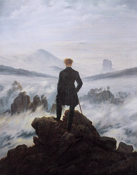 Wanderer above the Sea of Fog by Caspar David Friedrich, 1818