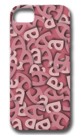 Letter A Pink iPhone 5 Cover