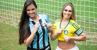 Charlene do Grêmio x Aline do Palmeiras finalistas