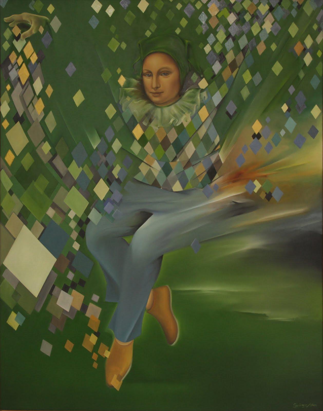 Solange Alves, O Coringa,  Óleo sobre tela, 110x140cm.