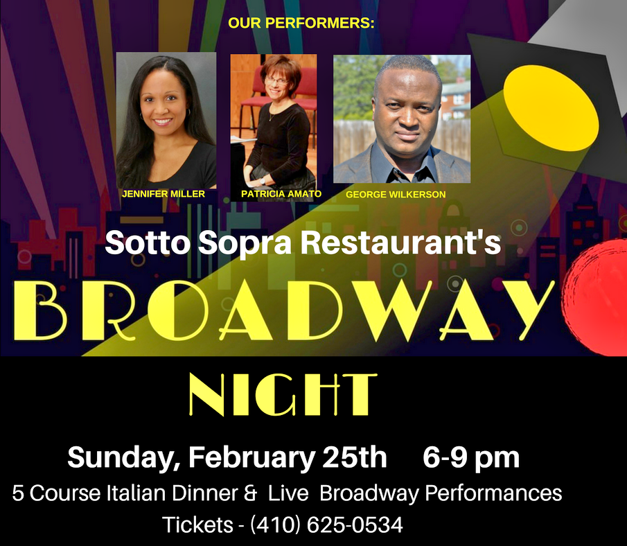 BROADWAY NIGHT AT SOTTO SOPRA