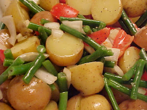 Salade d&#39;haricots verts et de pommes de terre  la dijonnaise