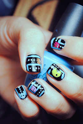 Funny Games Nail Art Design For Kids