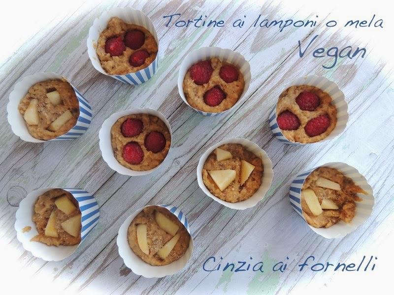 tortine di mela o lamponi vegan