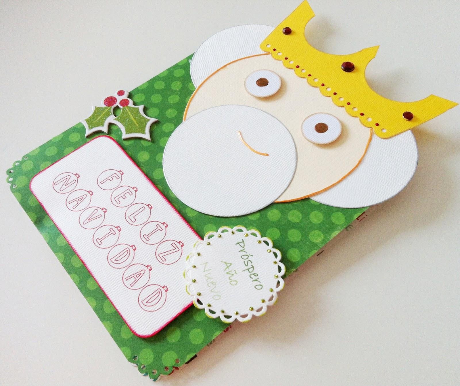 Tiz scrap tutorial para hacer una tarjeta navide a muy - Manualidades tarjeta navidena ...