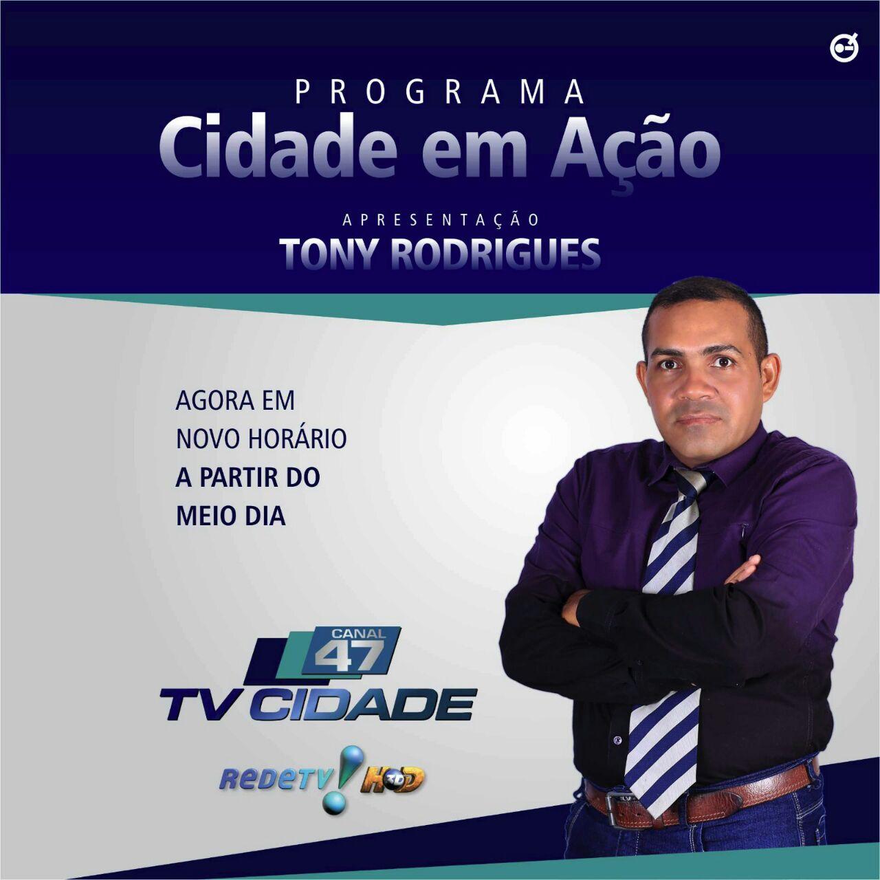 PROGRAMA CIDADE EM AÇÃO AGORA AO MEIO DIA NA TV CIDADE CANAL 47 REDETV DE BACABAL