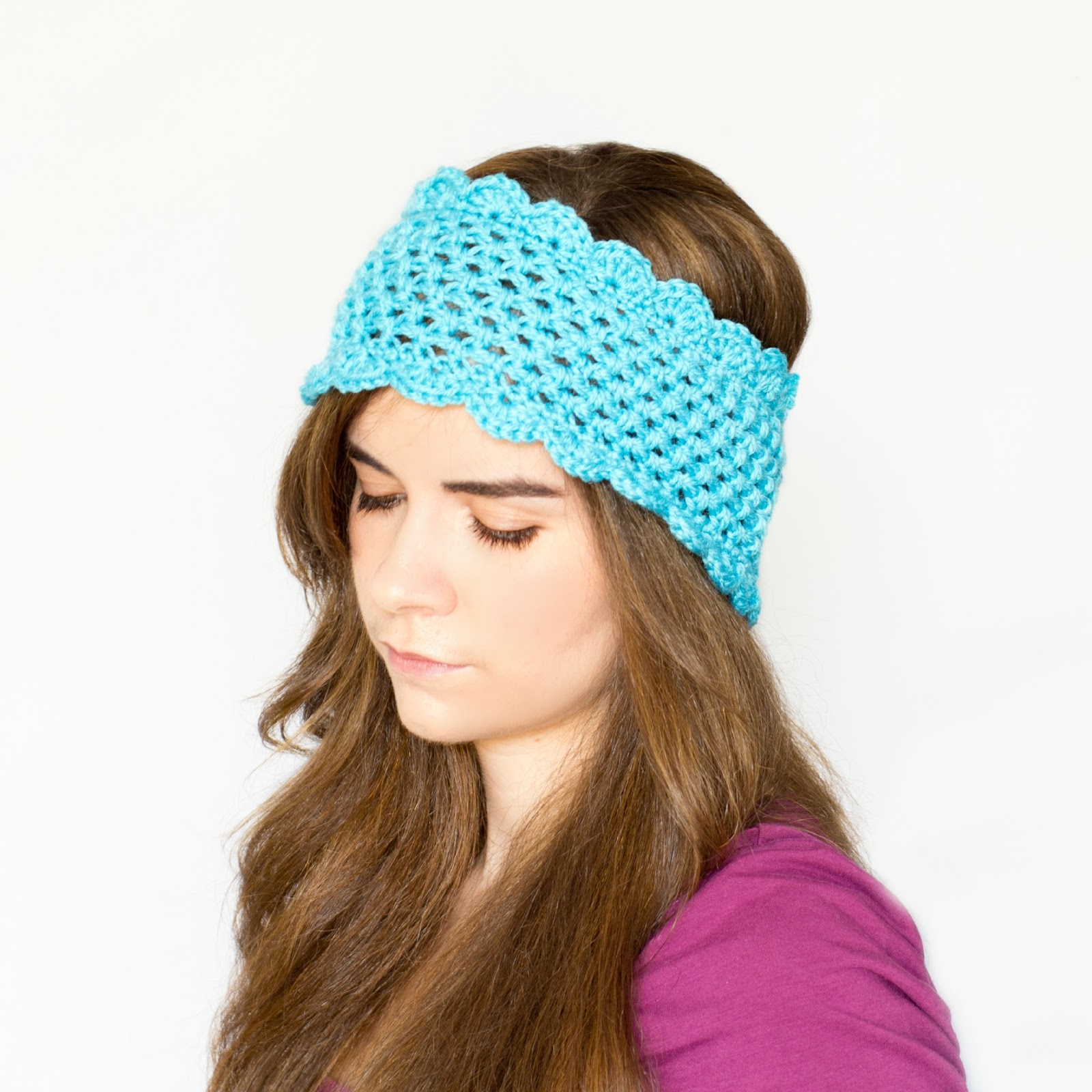 Free Adjustable Crochet Headband Pattern : Dainty Scalloped Ear Warmer - Interweave
