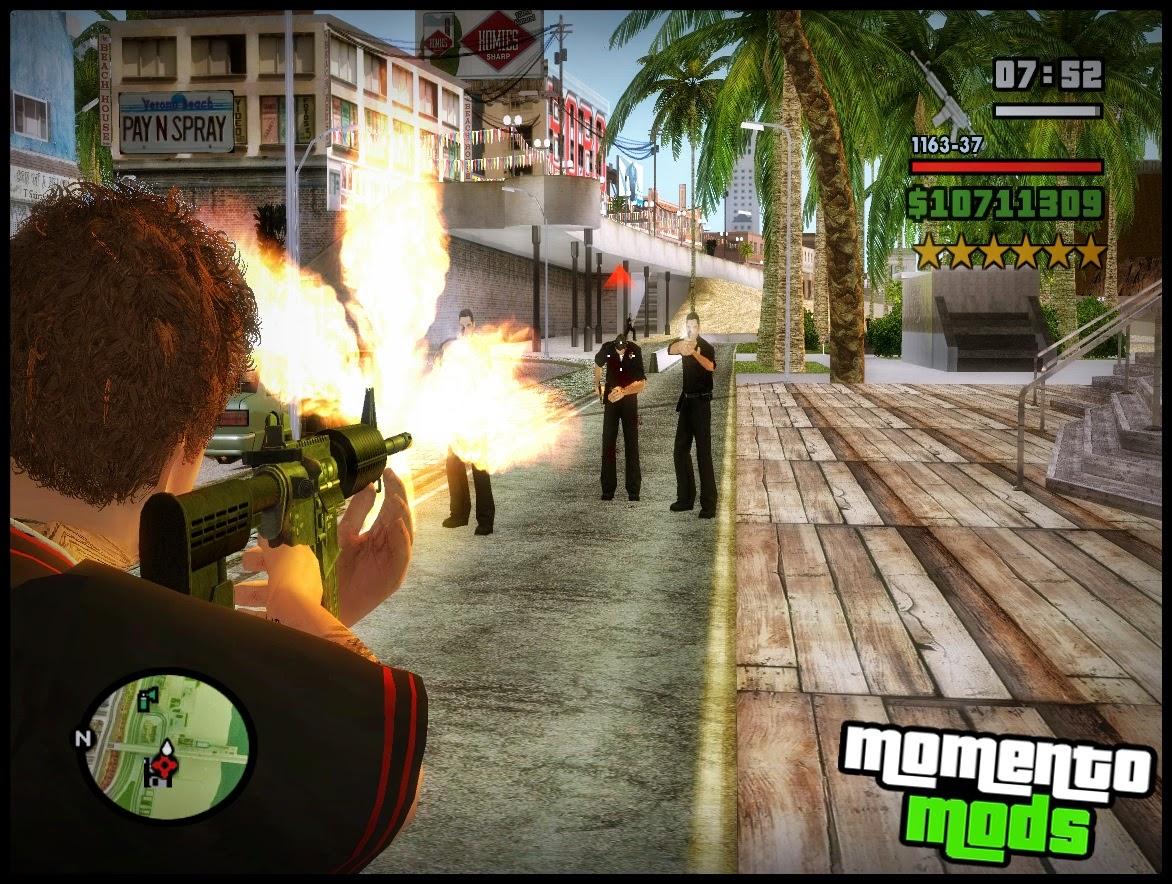 GTA SA - Visão Da Arma No Ombro