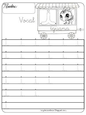 caligrafía Vocal i