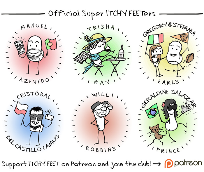 Official Super ITCHY FEETers