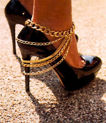 high heel anklets and toerings
