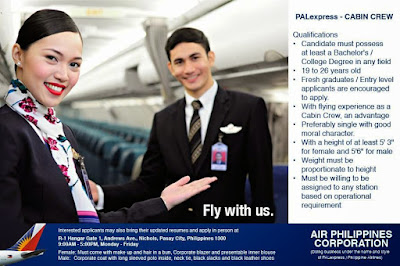 Fly gosh pal express cabin crew recruitment philippines for Cabin crew recruitment agency philippines