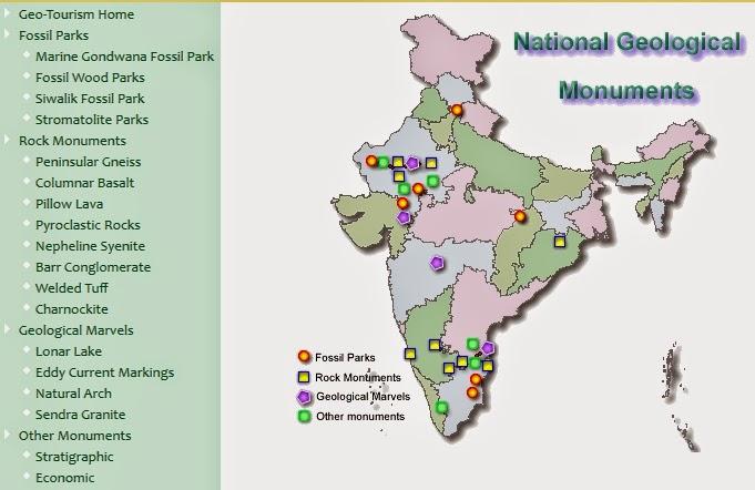Rapid uplift geological monuments of india here is the site map of the geological monuments gumiabroncs Choice Image