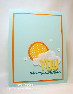 You Are my Sunshine-designed by Lori Tecler-Inking Aloud-stamps and dies from Avery Elle