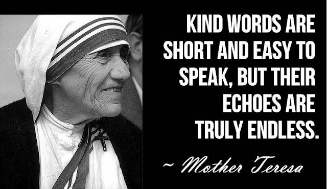 Words by mother teresa