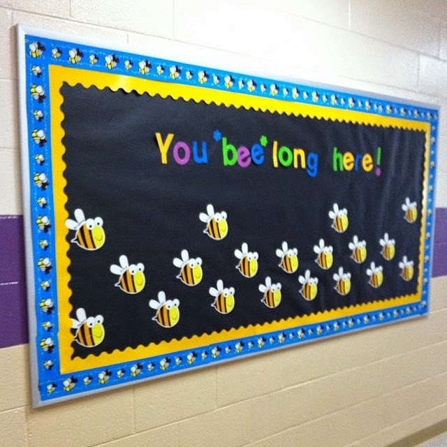 Classroom Theme Ideas Bees ~ Mrs black s bees back to school bulletin board