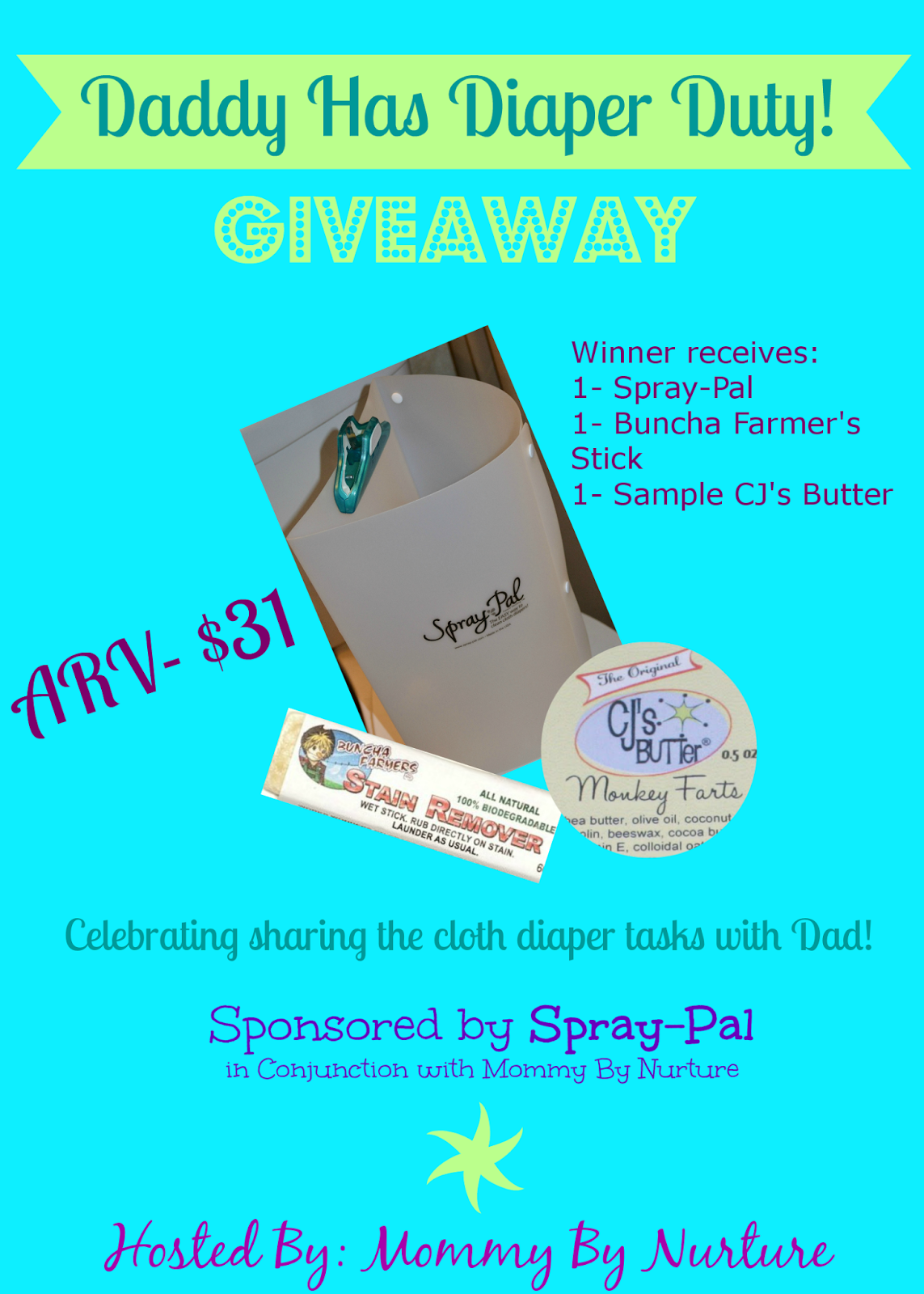 Daddy Has Diaper Duty Giveaway