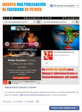 insertar publicacion facebook