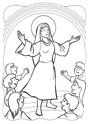 Coronación Virgen María colorear