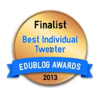 Edublog Finalist Best Individual Tweeter 2013